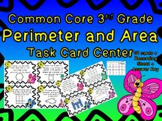Perimeter and Area Test Prep Task Cards!
