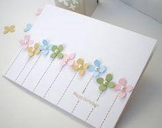 spring flowers, card idea, happy birthdays, flower card, craft cards