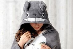 Be As Snuggly As Totoro In This Snuggie!  @Alex Bourret We need this....