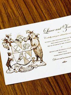 personalized crest invitation