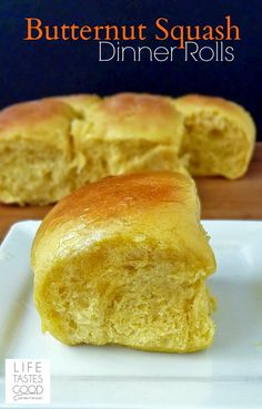 Butternut Squash Dinner Rolls | by Life Tastes Good are the softest, most delicious dinner rolls ever! #SundaySupper #Bread #Fall