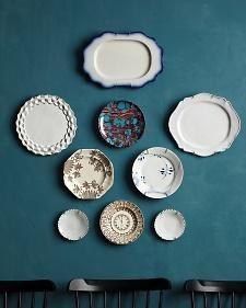 decor, wall art, wall colors, vintage plates, modern plate