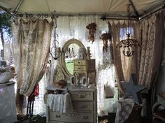 tablecloths as curtains- layers