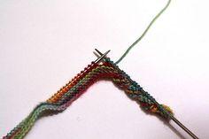 Twisted garter edging.
