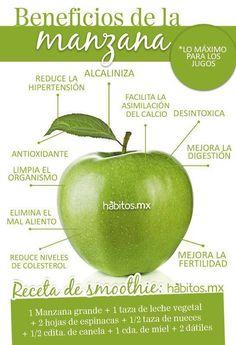 Beneficios de la manzana  http://mejoresremediosnaturales.blogspot.com/ #remediosnaturales #remedioscaseros #popular #salud #bienestar