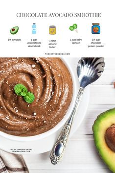 Make this chocolate avocado smoothie for a quick breakfast or healthy snack. More recipes, meal plans