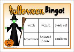 Halloween bingo (SB6032) - SparkleBox halloween printabl, halloween craft, slp halloween, bingo sb6032, halloween bingo, halloween freebi, sparklebox