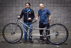 36 inch wheel tandem made by students in the University of Iowa's Hand Built Bicycle Program. Shown at  #NAHBS 2014