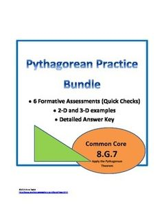 Pythagorean Packet Bundle Sub Plans Exit Tickets Bell Work