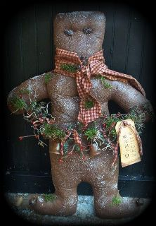 Primitive Gingerbread Boy Hanger E-Pattern - The Old Glory Company