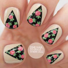 Daily Nail Art: Rose Curtains | FlauntMe