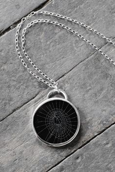 real spider web #necklace
