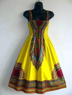 African Dashiki Print Sundress