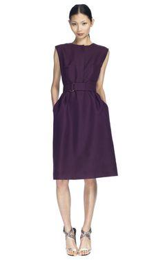 Shop Giambattista Valli Burgundy Two Pocket Dress at Moda Operandi