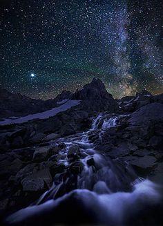 night sky over Grand Teton National Park, Wyoming
