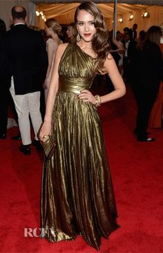Jessica Alba in Michael Kors at the 2012 Met Gala. Photo Credit: RCFA