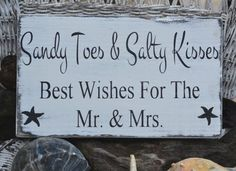 Beach Wedding Decor - Beach Wedding Sign - Custom Colors - Mr Mrs - Guest Book - Wishes - Coastal Wedding - Painted, No Vinyl -  Rustic on Etsy, $32.00