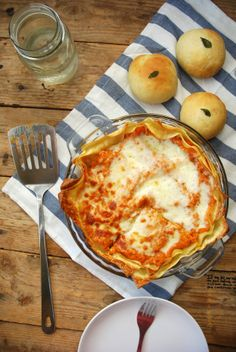 Pumpkin lasagne.