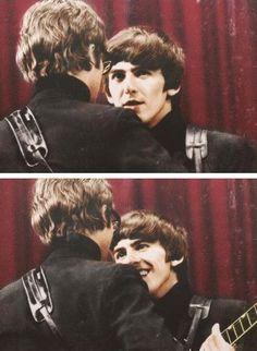 John and George   via Beatle Love ~ Cityhaüs Design