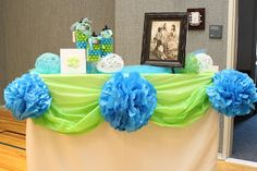 "Dots ""Depending on the Savior""  Cute decorating idea.  The Treasure Family: Relief Society Birthday Dinner Party!"