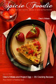 Cleo's Frittata (Plus a #freebie too!) | #eggs #spinach #pepper #breakfast #brunch