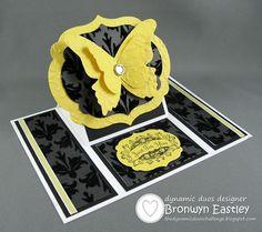 beauti butterfli, easel cards, butterfli card, butterflies, color, dynam duo, card tutorials, black, addinkt design