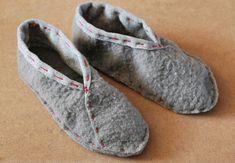 Easy DIY slippers... great tutorial
