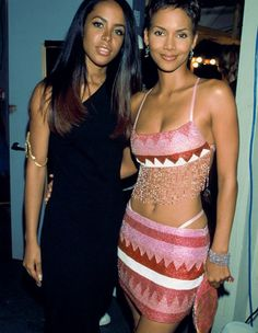 Aaliyah & Halle Berry Hall Berri, Celeb, Photo Share, Aaliyah Rip, Beauti Peopl, Halle Berry, Women, Black, Berries