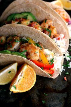 Rosemary Citrus Shrimp Tacos | Melanie Makes melaniemakes.com