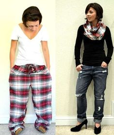 This is a great way to reuse old clothes that don't fit or you love so much you can't part with them.