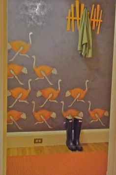 Paint It's version of Stencil Library ostriches.