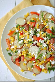 Summer Veggie Potato Salad, only 4 WW points