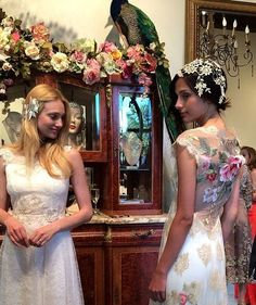 Claire Pettibone wedding dresses during the recent Modern Luxury / California Brides event at #TheCastle | The photo was taken by Carol Ly Photography