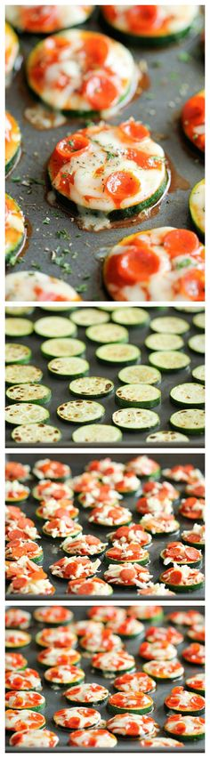 Zucchini Pizza Bites - Healthy, nutritious pizza bites that come together in just 20 minutes with only 5 ingredients!