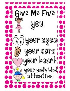 FREE - Poster Give Me 5