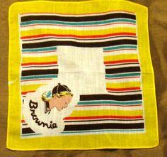 Vintage 50s Brownie Scout Handkerchief by threemartinilunch, $15.00