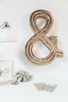 DIY sequined ampersand