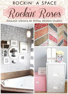 Rock your spaces with Rocking Roses Stencil | Royal Design Studio