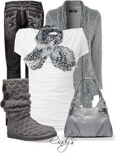 """""""UGG Lattice Boot in Charcoal"""" by cindycook10 ❤ liked on Polyvore"""