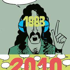 """""""Proponemos adquirir los derechos para duplicar digitalmente y almacenar LO MEJOR del catálogo de cada compañía de discos en una localización central de procesamiento, y hacerlo accesible por teléfono o televisión por cable"""" (Frank Zappa, 1983)."""