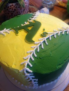 oakland a's cake