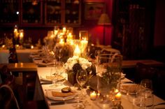 Winter rehearsal dinner tablescape