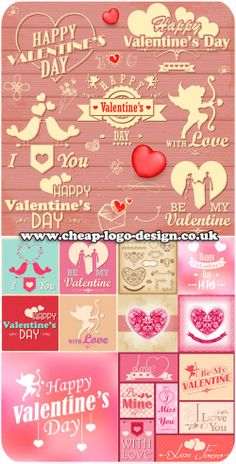 valentines day logo and graphic ideas www.cheap-logo-design.co.uk #valentines #love #heartlogos