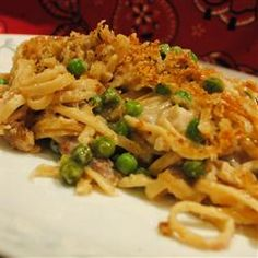 "Turkey Tetrazzini II | ""This was yummy! The whole family loved it. Great for leftover Thanksgiving turkey. I added 1 1/2 cups of frozen peas which gave it just what it needed. I made the original 8 serving recipe and thought it would be way too much for the 4 of us but it was so good that everybody had seconds!"""