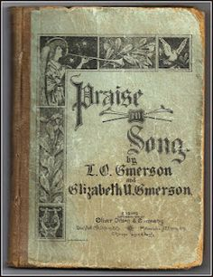 Hymnbook Cover ~ Praise Song, dated 1888
