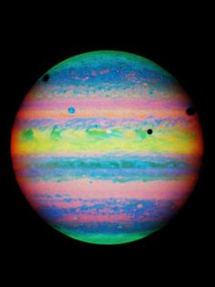 #space #planet #rainbow #colorful    #jupiter and#moons