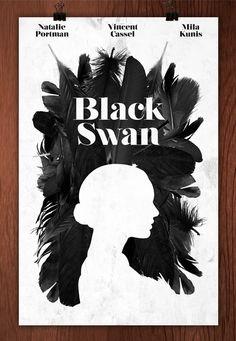#Movie #poster Black Swan #graphic #design #illustration #cinema