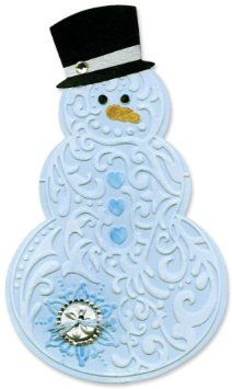 Sizzix 657367 Bigz Die with Bonus Textured Impressions, Snowman and Hat by Beth Reames