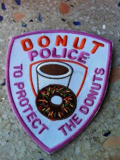 Donut police patch