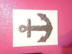 Just made this DIY anchor wall art! #anchor #wallart #DIY